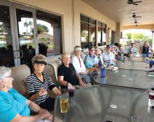How can we not enjoy this wonderful weather with a social hour after golf?