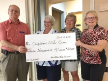 Cottonwood Lady Niners present check to Neighbors Who Care.