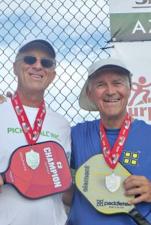 Gold medal winners Dave Zapatka and Don Simmons at the Grand Canyon State Games in February