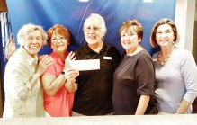 From left, Marge Shipe, Carol White, Dennis White, Judy Caniglia and Pam Yocum