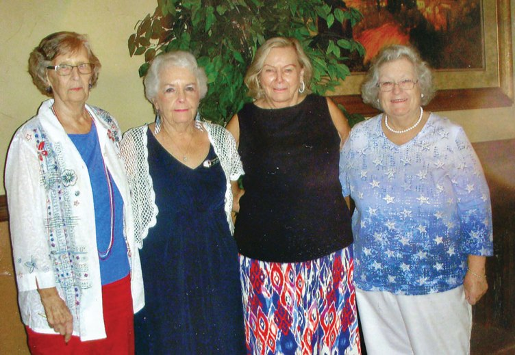 Cottonwood Ladies Bridge officers 2017-2018 (left to right): Treasurer Jeanette Newman, Vice President Dee Guthrie, President Gloria Danker and Secretary Karen Sanchez
