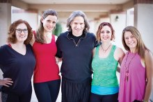 Yoga teachers (left to right): Brianne, Vanessa, Chris, Noell and Kary Sinkule; not pictured, Cindy