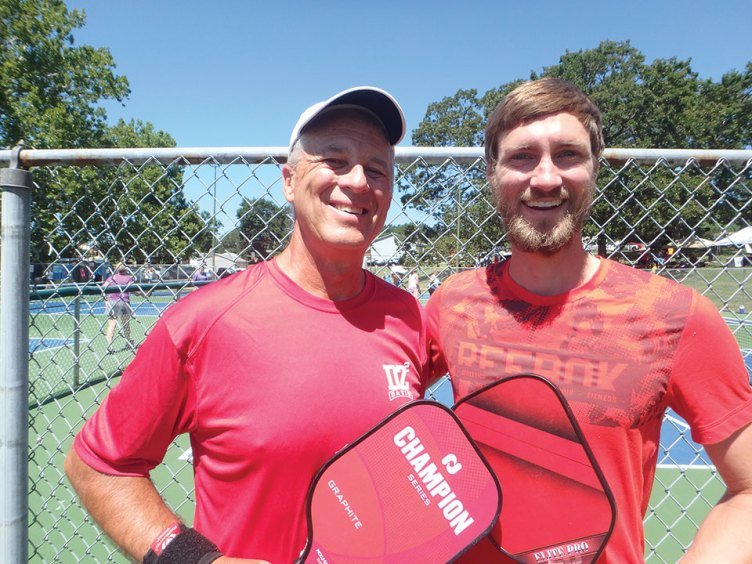 David Zapatka, Sun Lakes, Arizona, and Keenan Gore, Springfield, Missouri, won a silver medal in the Festus, Missouri, 5.0 Men's Division in Pickleball.