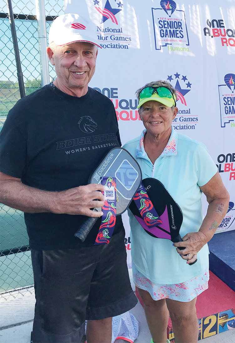 Janice Golden and Jim McMillan placed 7th out of 77 teams in the 65-69 division.