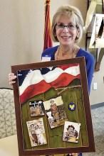 Joan Johnson with winning painting