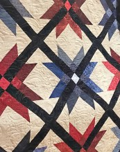 A members quilt displayed at our 2019 Quilt Show