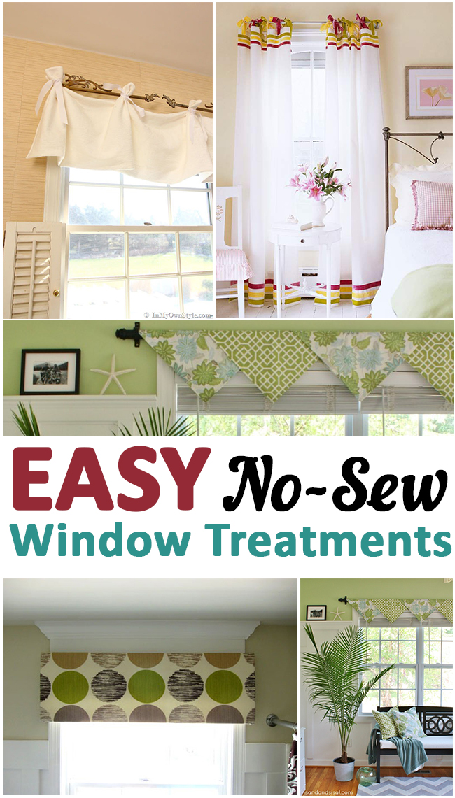 11 Easy No Sew Window Treatments