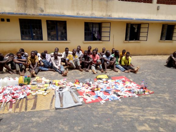12-year-olds among 151-member criminal gang arrested by police in Adamawa