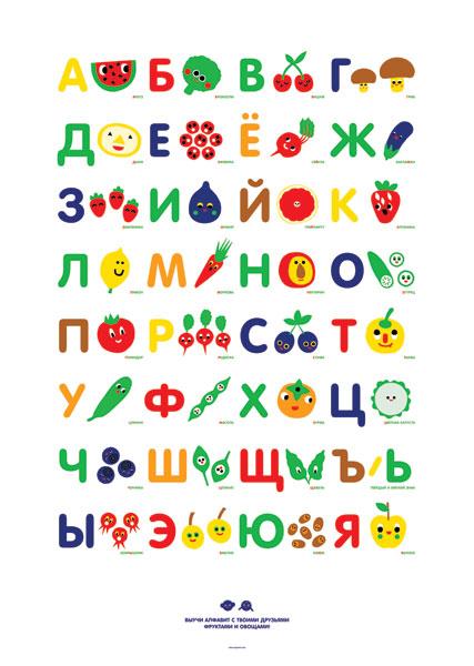 Алфавит для распечатывания в детскую