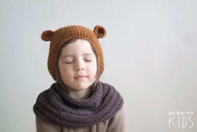 Весенняя коллекция 2013 ko-ko-ko KIDS вязаная шапка с ушками via sunniest.ru