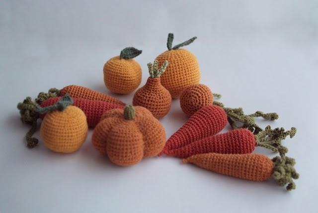 вязаные овощи от kokokokids