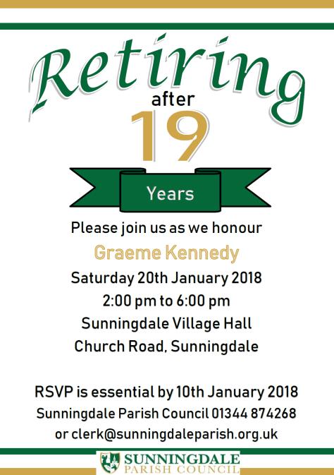 Graeme Kennedy Retirement Event Invitation