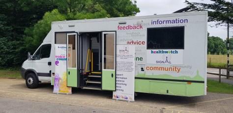 Signal 4 Carers Bus at Broomhall Lane Recreation Ground