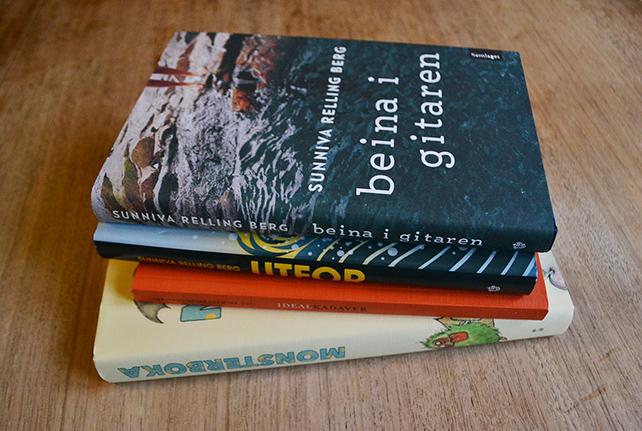 En stabel av bøkene mine