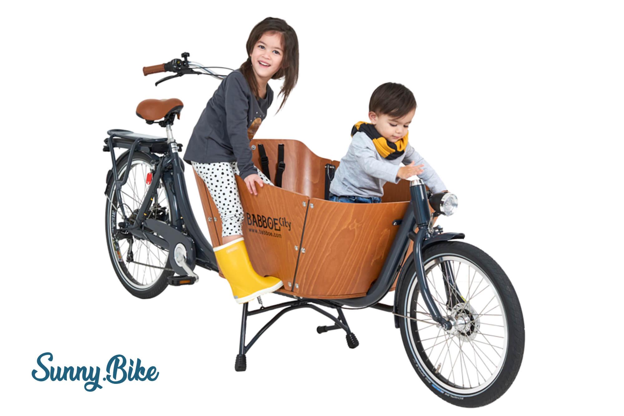 Baboe Lastenrad bei Sunny Bike im Verleih auf Fehmarn