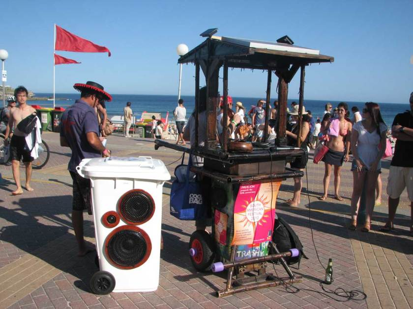 Early Sunny Bin model and BAr Wheelie at the Latin American Music Festival in Bondi