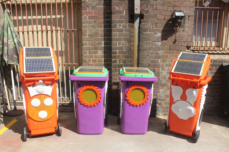 Many different colours bins for Communitys NSW 2011