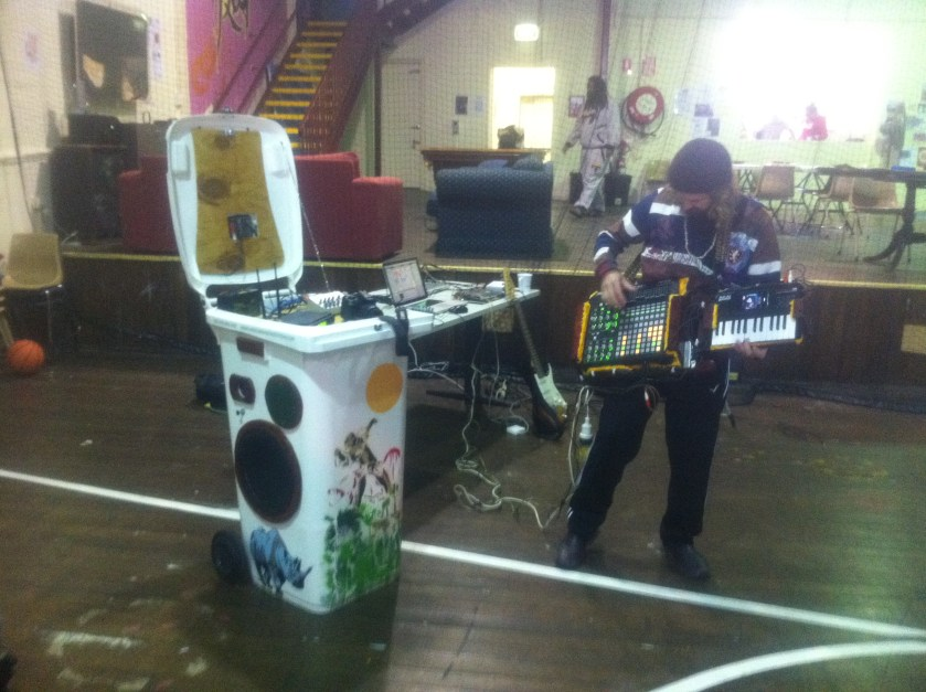 Mash axe in action at Glebe Youth centre