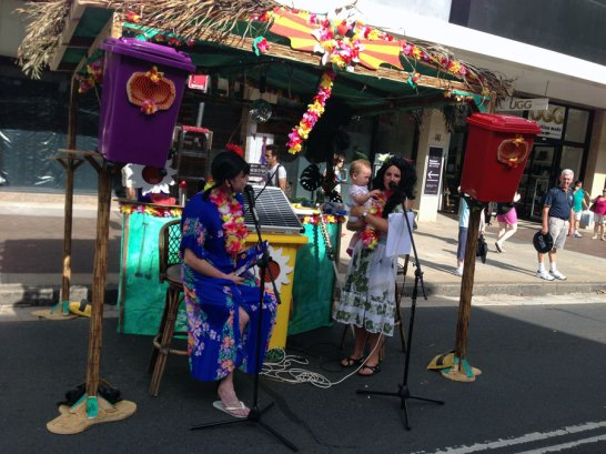 Cabana Tropicana. Live performance through the Sunny Bin sound System venue