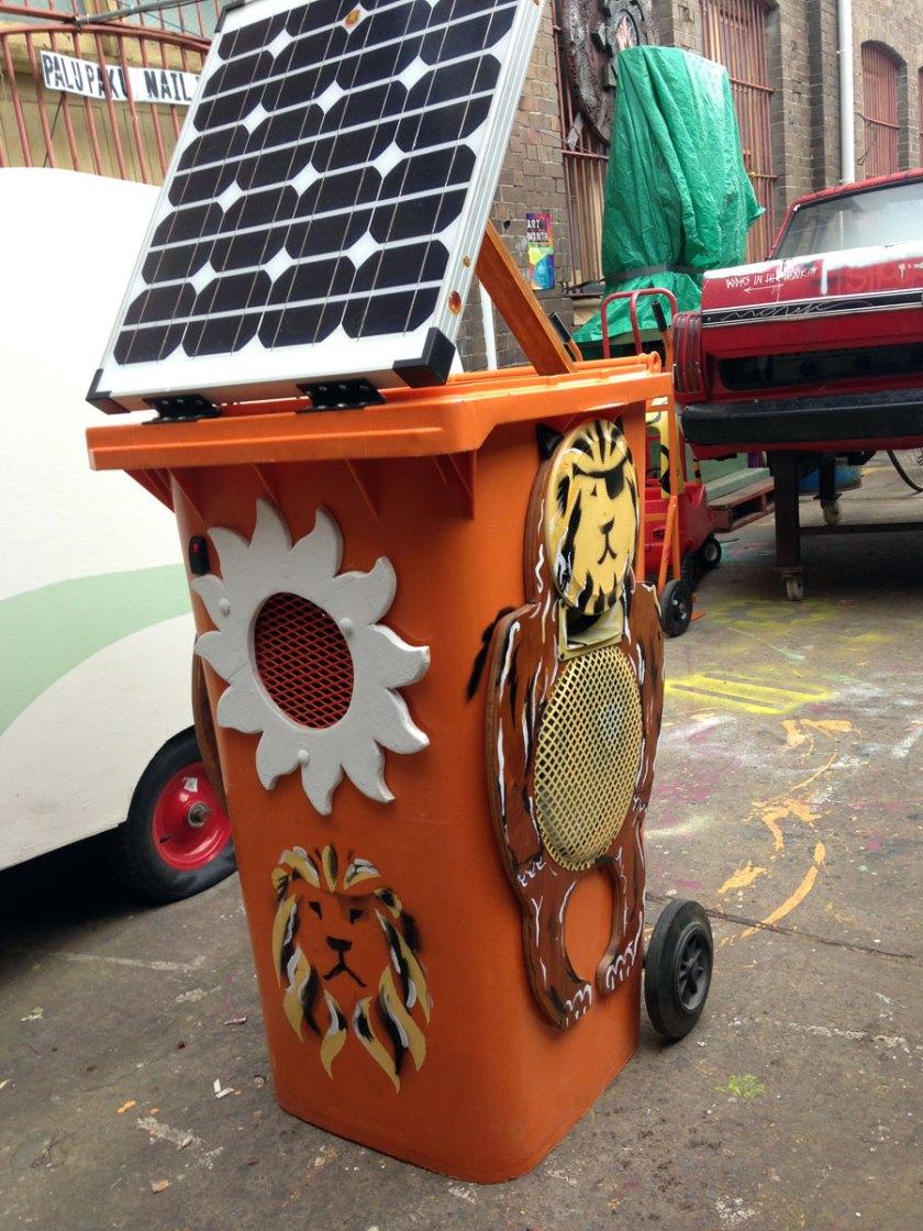 Lion bin pumping out dancehall at Tortuga studios