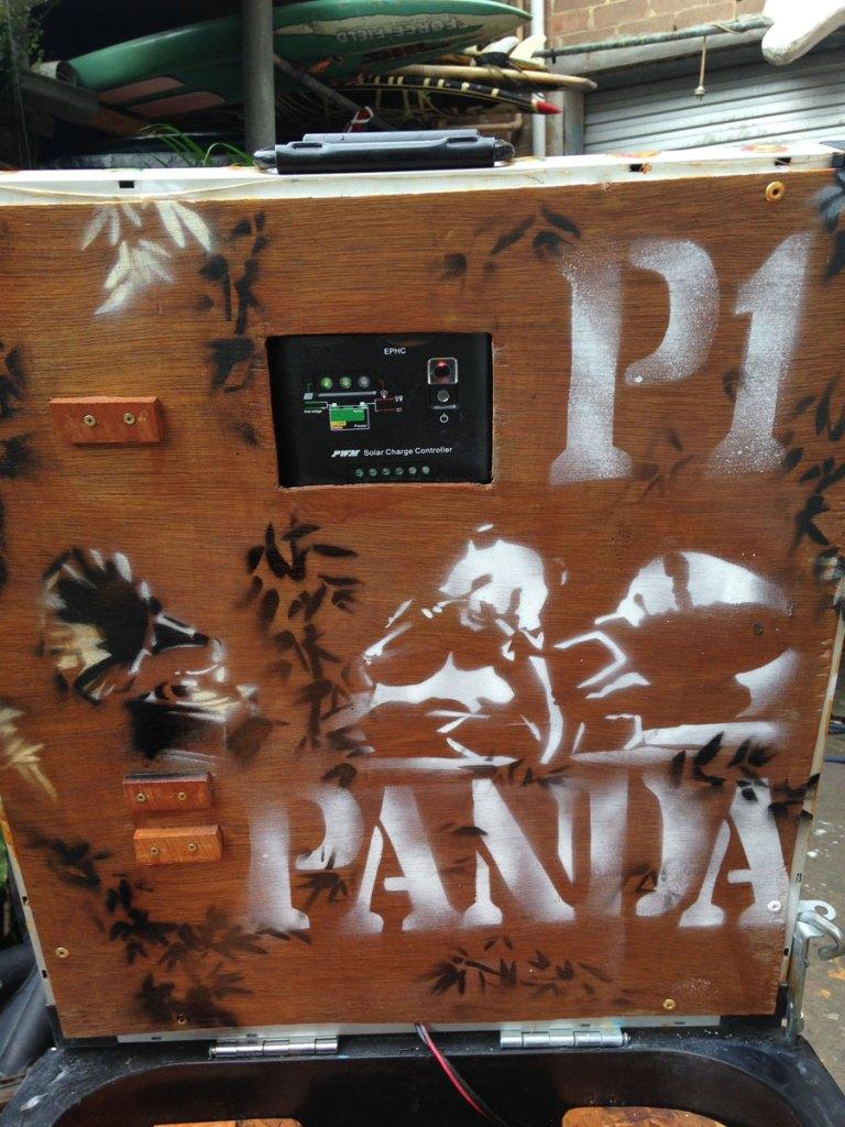 The Panda themed bin ready to rock.