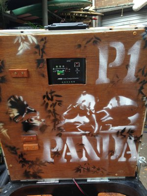 The Panda themed bin ready to rock.