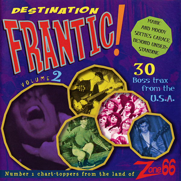 Various – Destination Frantic! Vol. 2 – 60's Garage Rock Punk Fuzz Psychedelic Music Album Compilation