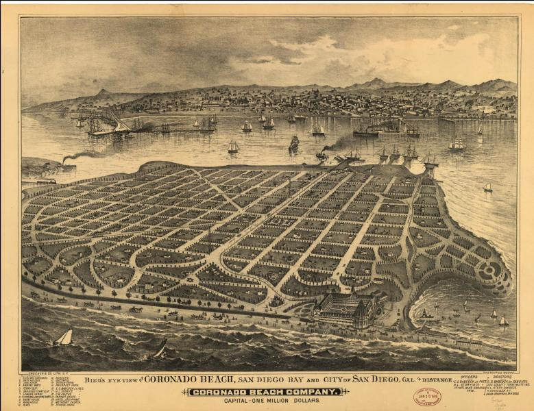 Historical Maps of San Diego Coronado 1888