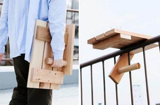 Έξυπνες ιδέες μπαλκονιού με έπιπλα και γλάστρες για εξοικονόμηση χώρου19