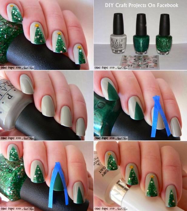 Χαριτωμένες DIY Ιδέες τέχνης νυχιών για τα Χριστούγεννα4