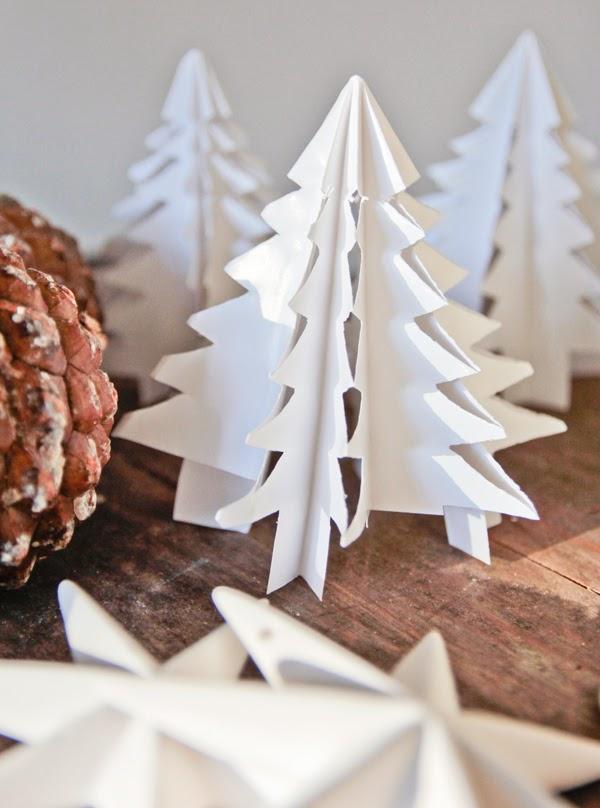 Diy Χάρτινο Χριστουγεννιάτικο Δέντρο1