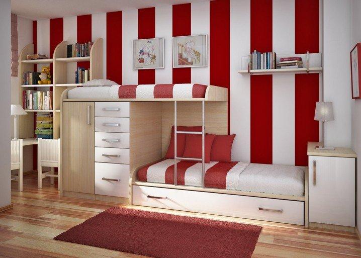 Σχέδια Παιδικού Δωμάτιου για δύο κορίτσια11