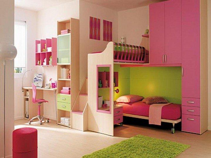 Σχέδια Παιδικού Δωμάτιου για δύο κορίτσια13