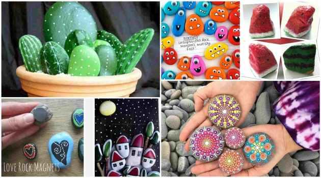 ιδέες τέχνης με πέτρες και βότσαλα