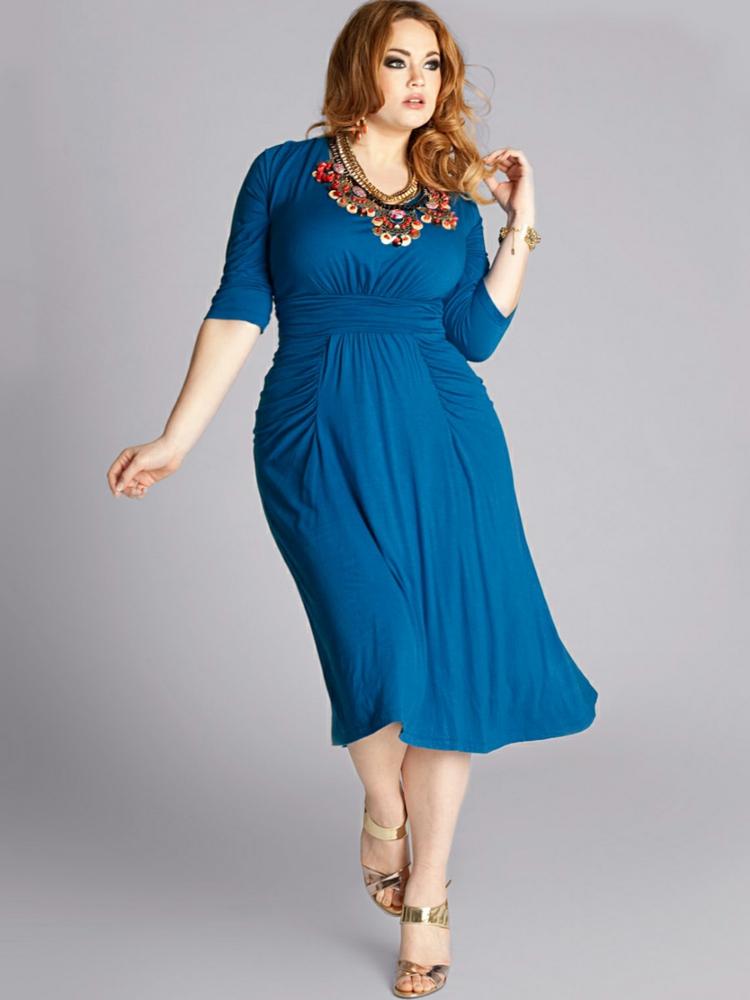Φορέματα σε μεγάλα μεγέθη - μόδα για γυναίκες με καμπύλες40