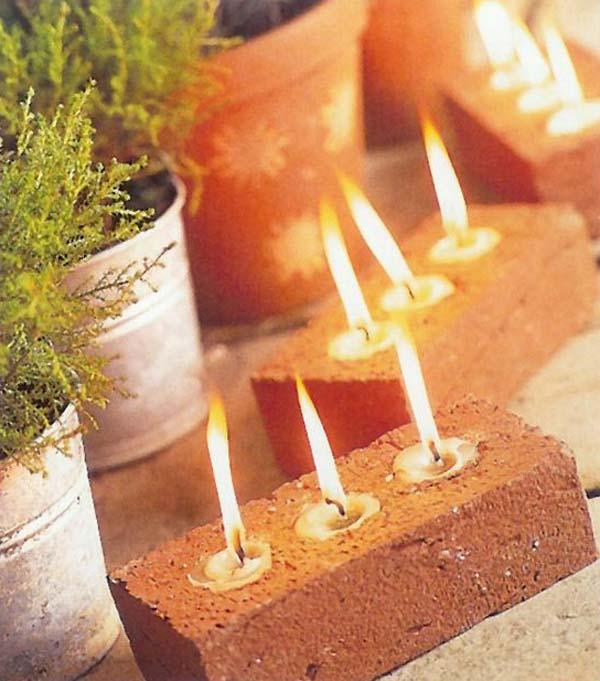 DIY ιδέες κήπου ή αυλής από τούβλα1