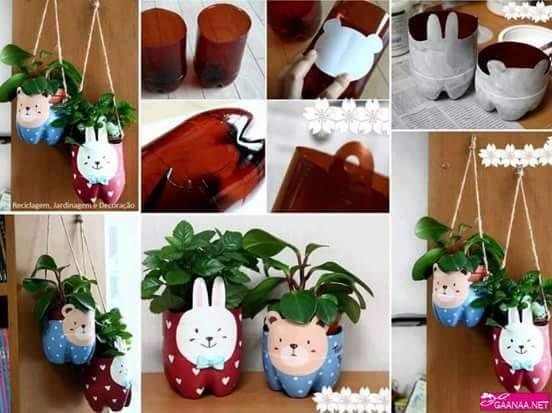 diy ιδέες με πλαστικά μπουκάλια9
