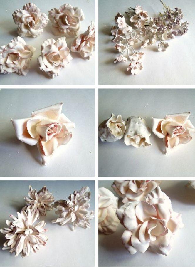 Λουλούδια σε γύψο2