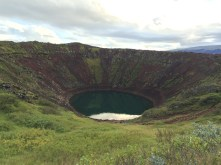 Kerið, crater repurposed to lake