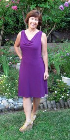 Purple dress - Vogue 1351