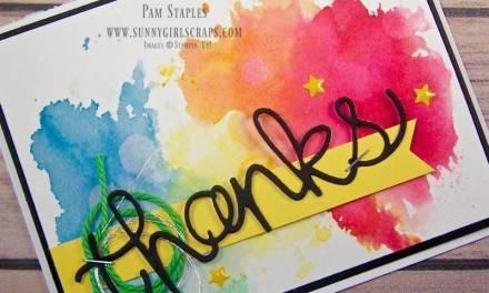 CARD: Watercolor Smoosh Technique for CYCI 139