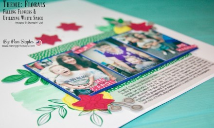 Scrapbook Sunday: Falling Flowers with White Space