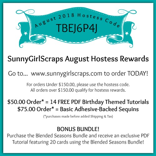 August 2018 Host Code for SunnyGirlScraps