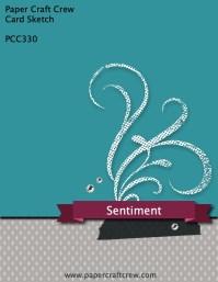 Paper Craft Crew Card Sketch PCC330