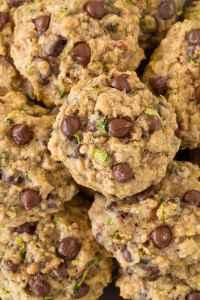 Zucchini Oat Chocolate Chip Cookies