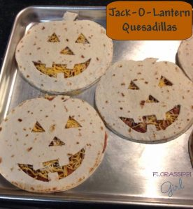 Jack-O-Lantern Quesadillas Halloween Themed food