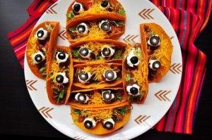 Spooky Eyeball Tacos