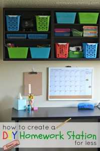 budget friendly homework station