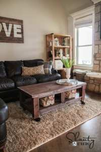 Pottery Barn Inspired Coffee Table