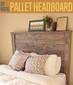 DIY Rustic Pallet Headboard